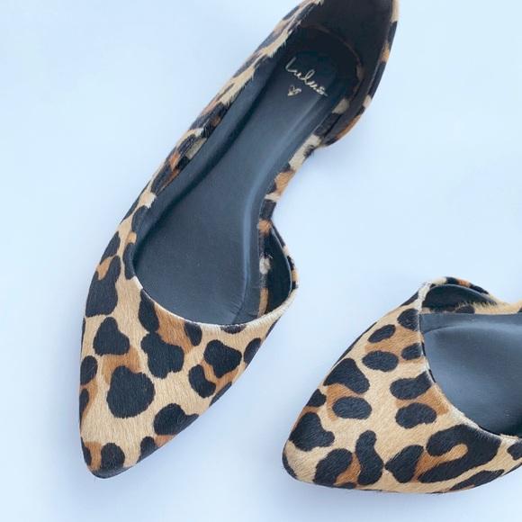 a182b82a8775 Lulu's Shoes | Audri Udri Leather Leopard Calf Hair Dorsay Flats ...